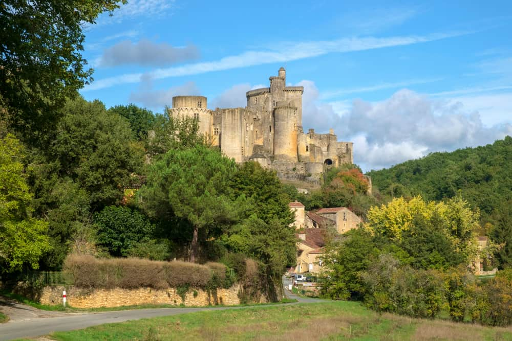 The impressive ruins of Chateau de Bonaguil castle in france