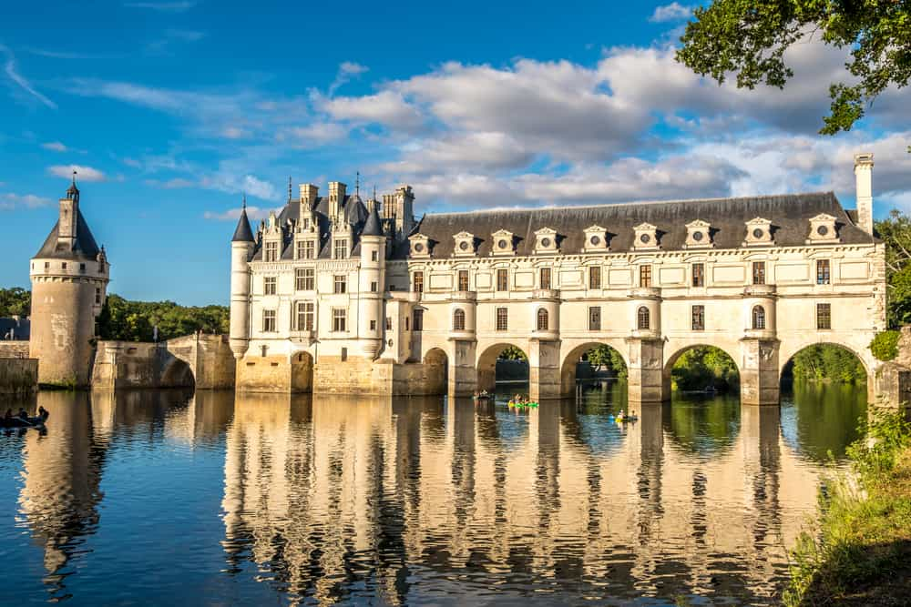 The beautiful Chateau de Chenonceau castle in france