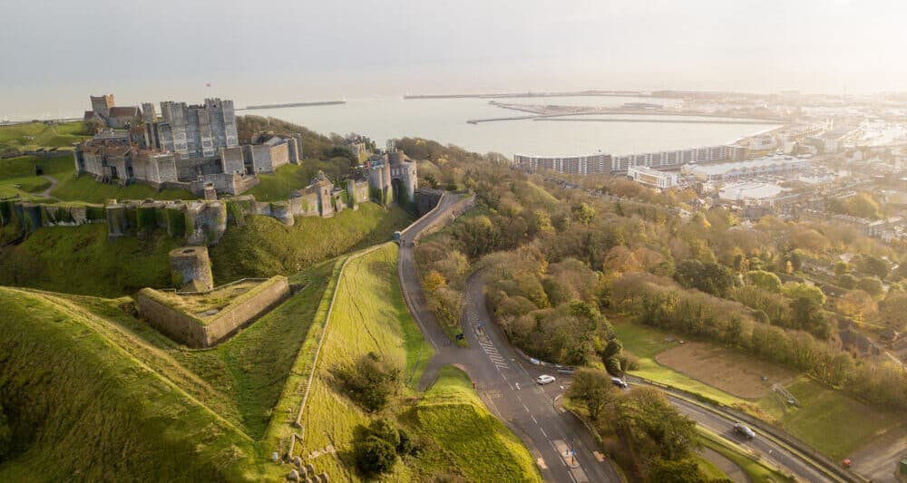 Dover Castle from above