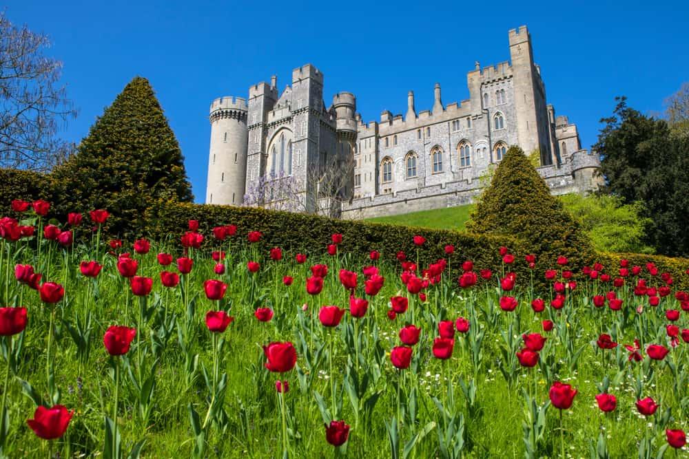 Arundel Castle in the spring