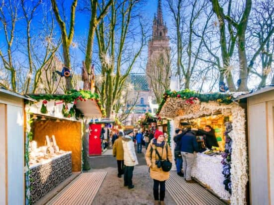 The Basel Christmas market is one of the prettiest Christmas markets in Switzerland