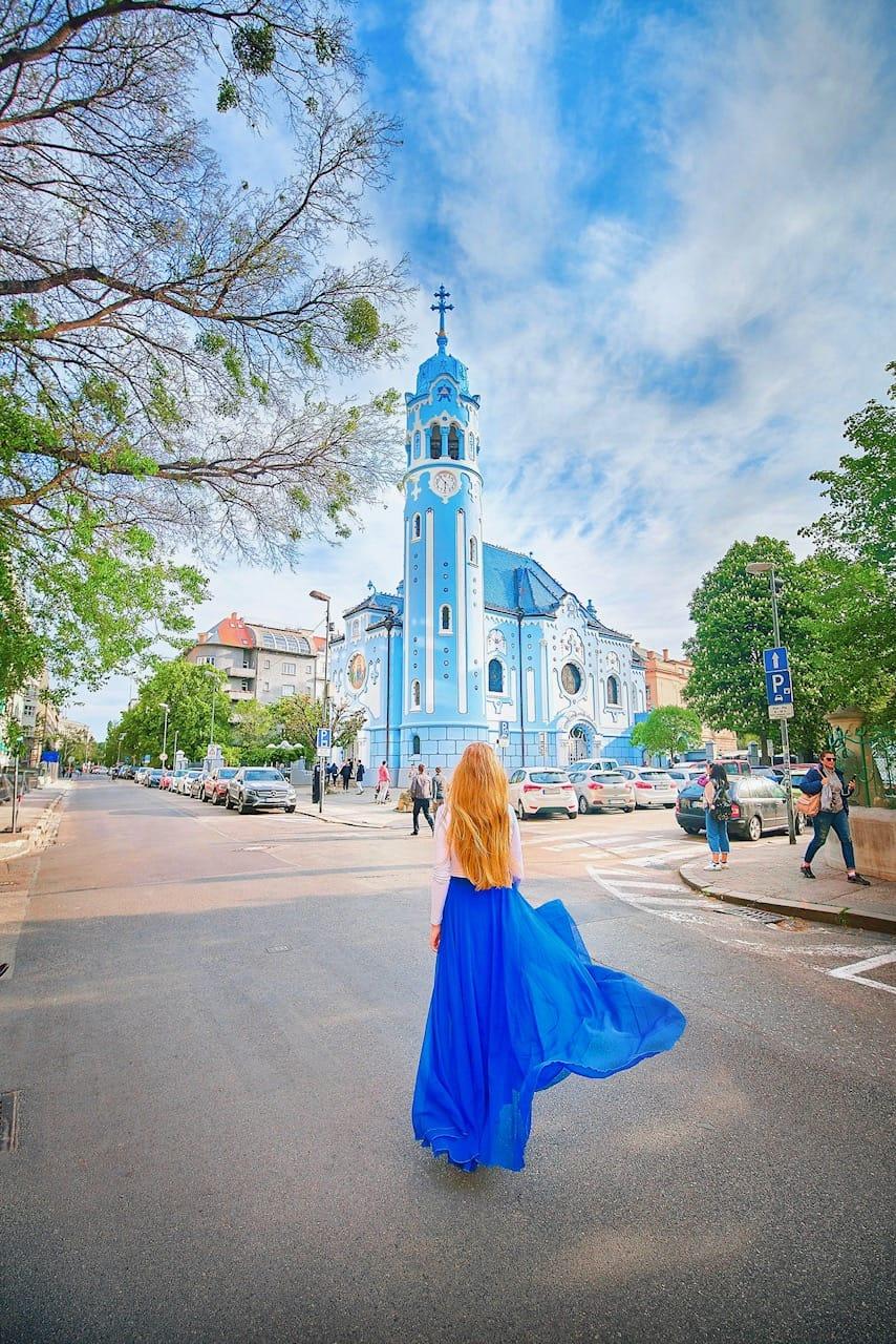 Blue church in Bratislava Slovakia