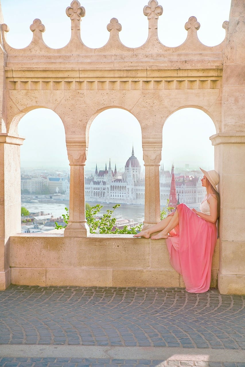 Center view from fisherman's Bastion in Budapest