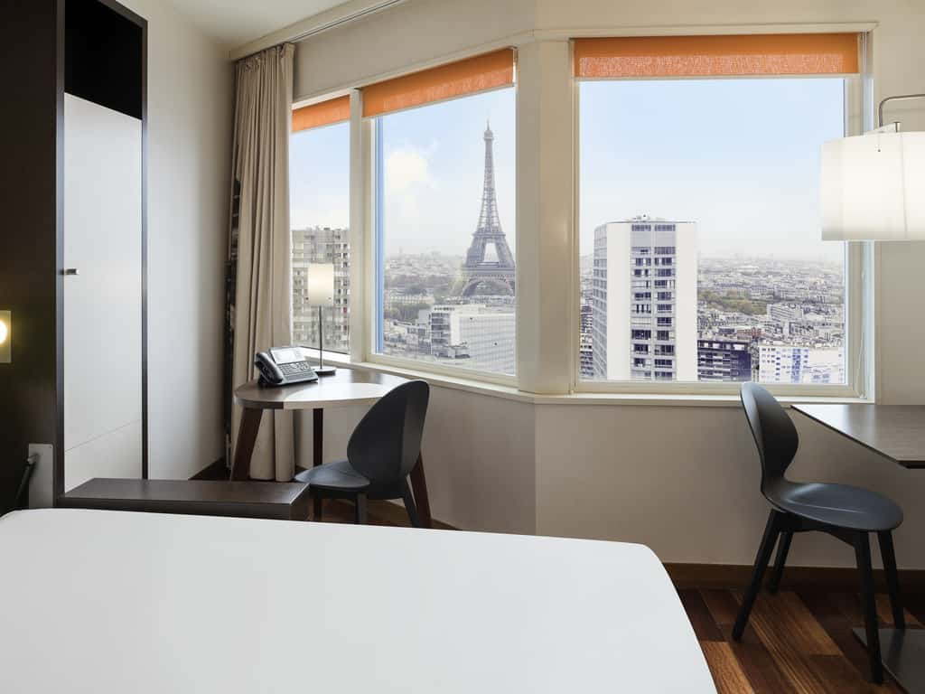 Adagio Paris Tour Eiffel has one of the best Eiffel Tower room views in Paris