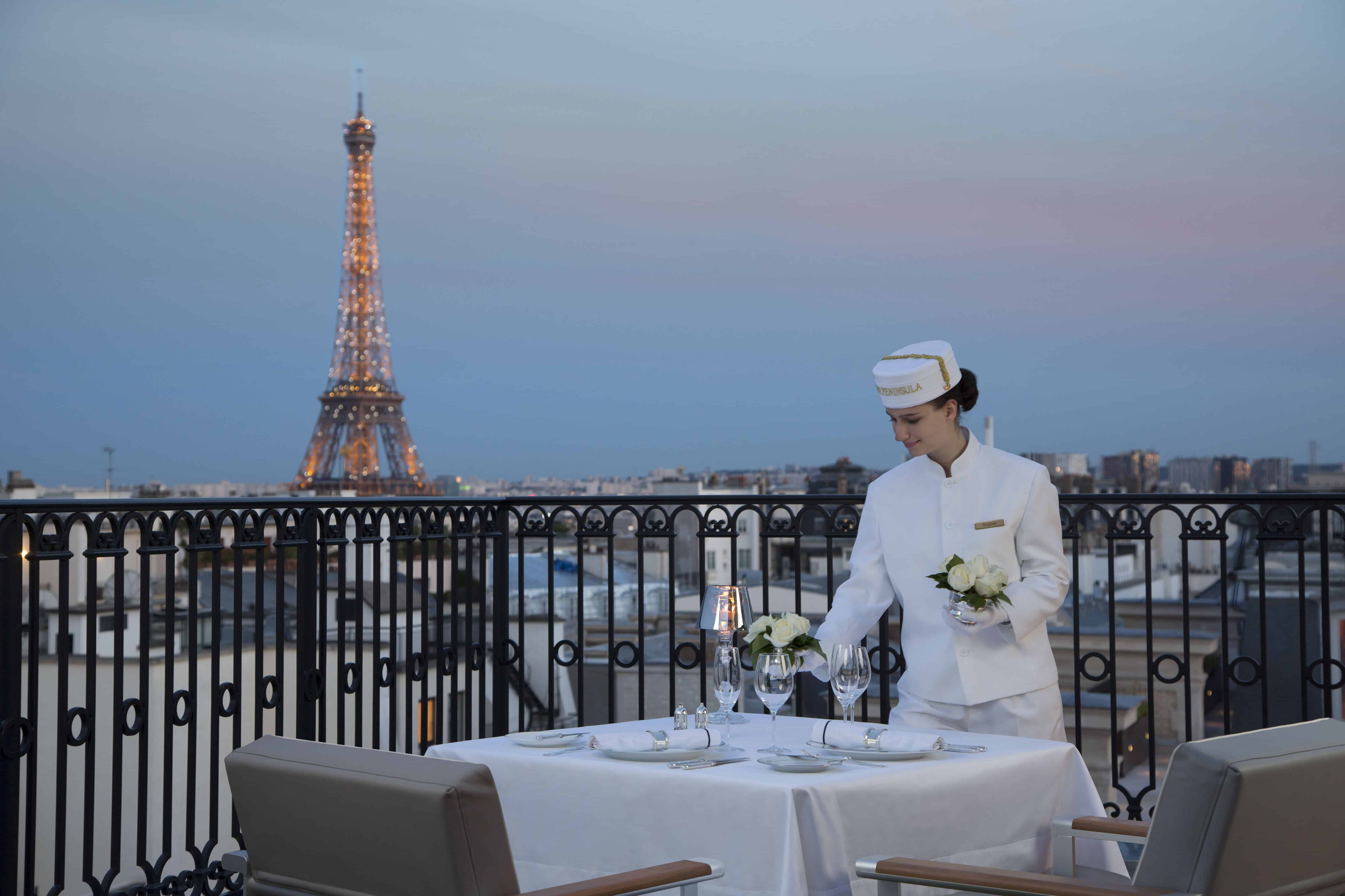 The Peninsula Paris is the top luxury hotel in Paris with Eiffel Tower view