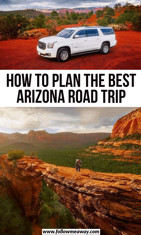how to plan the best arizona road trip