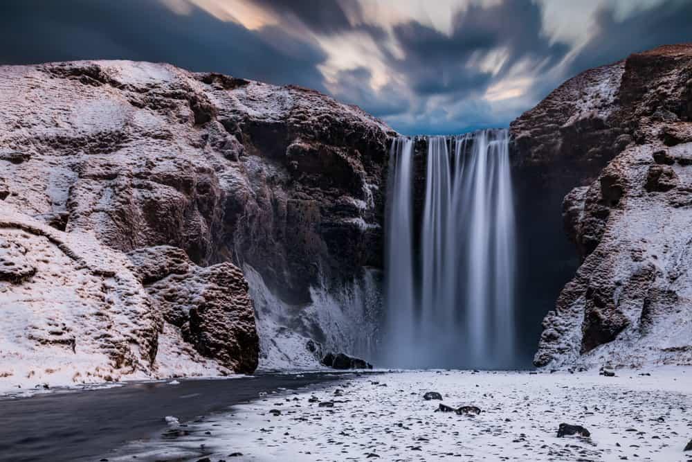 Skogafoss in Iceland in December