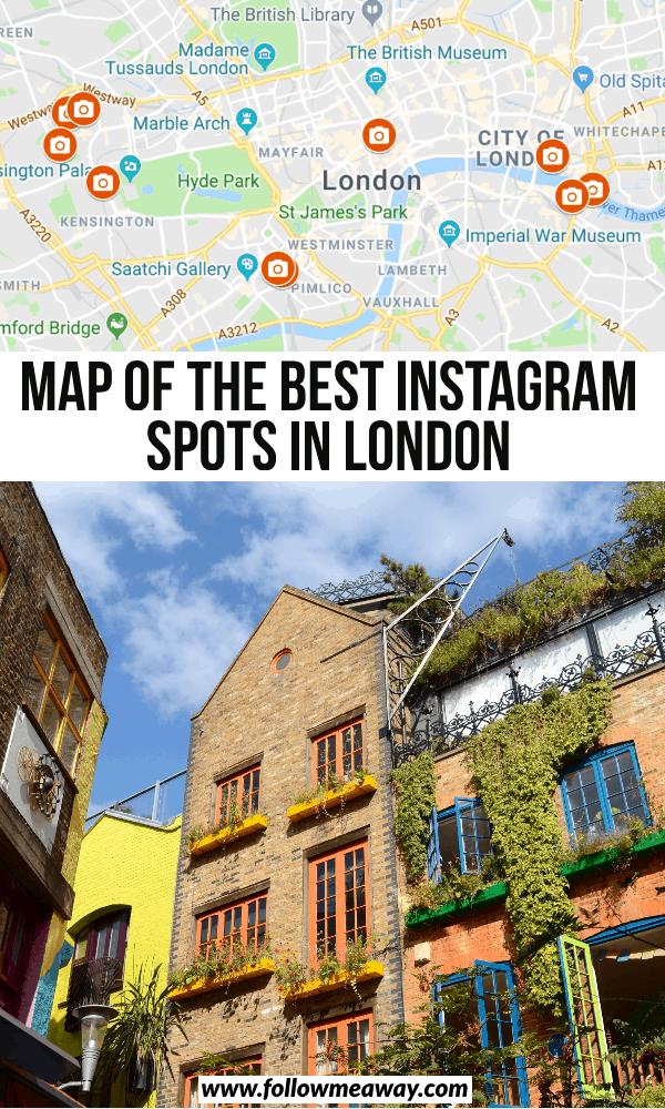 map of the best instagram spots in london