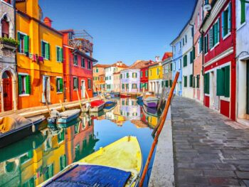 burano is the place to go spending oned ay in venice if you want to see some color
