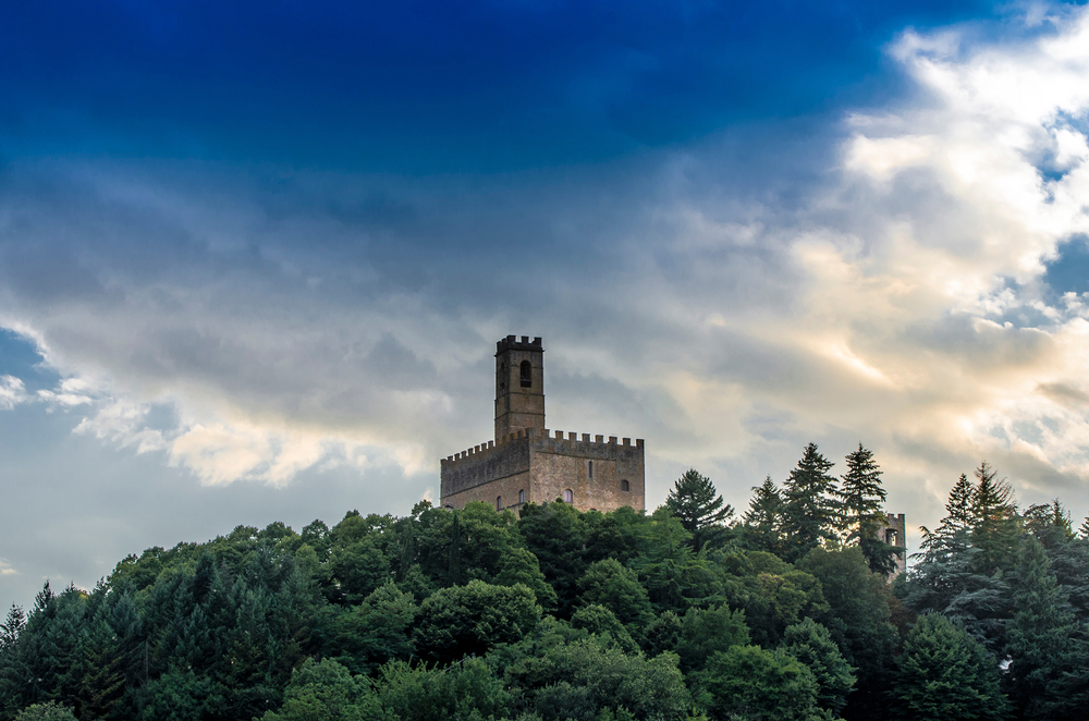 Castle of Counts Guidi castle in Poppi Tuscany