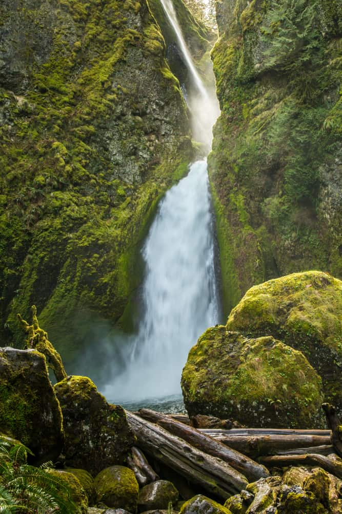 Visit Wahclella Falls and get 2-for-1 waterfalls in Oregon