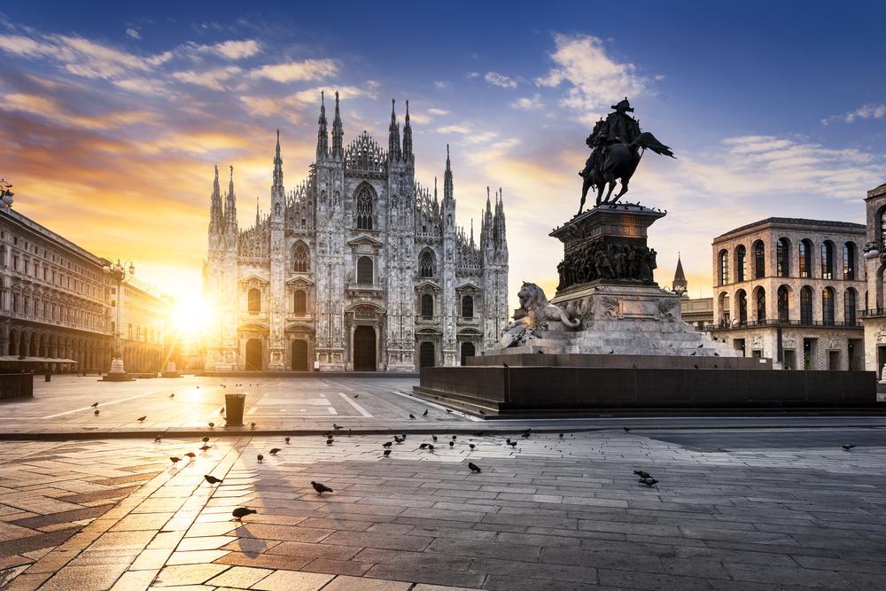 Milan Duomo at sunset