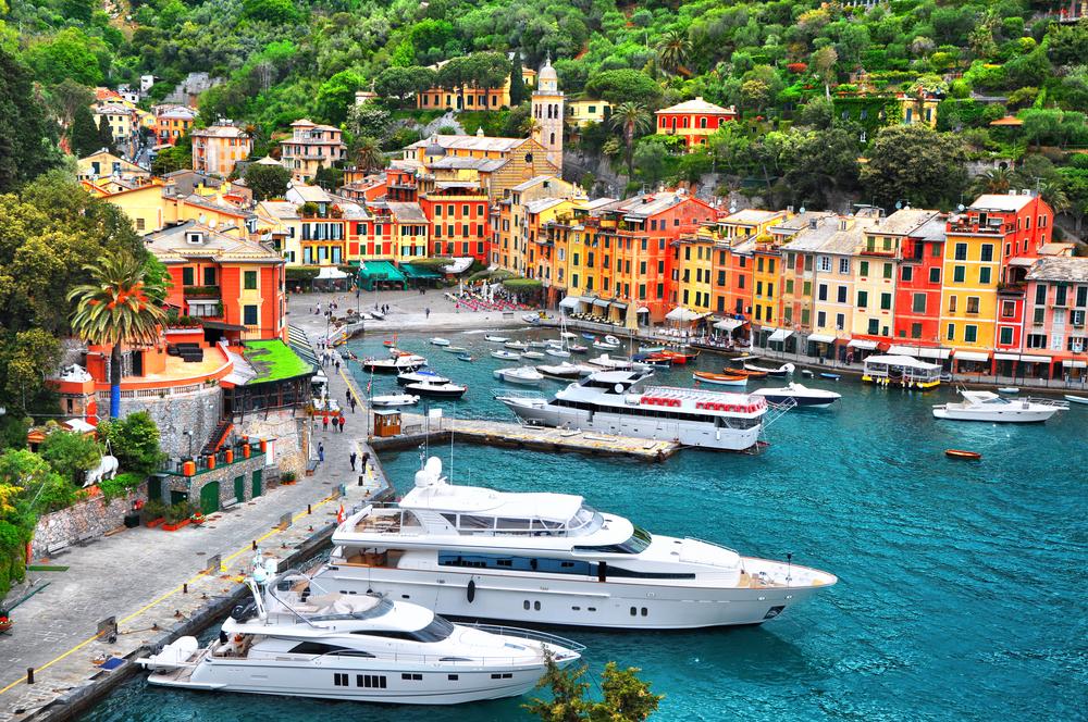Super yachts in Portofino Italy