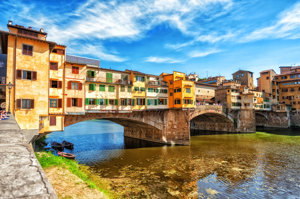 Colorful Bridge in Florence Italy