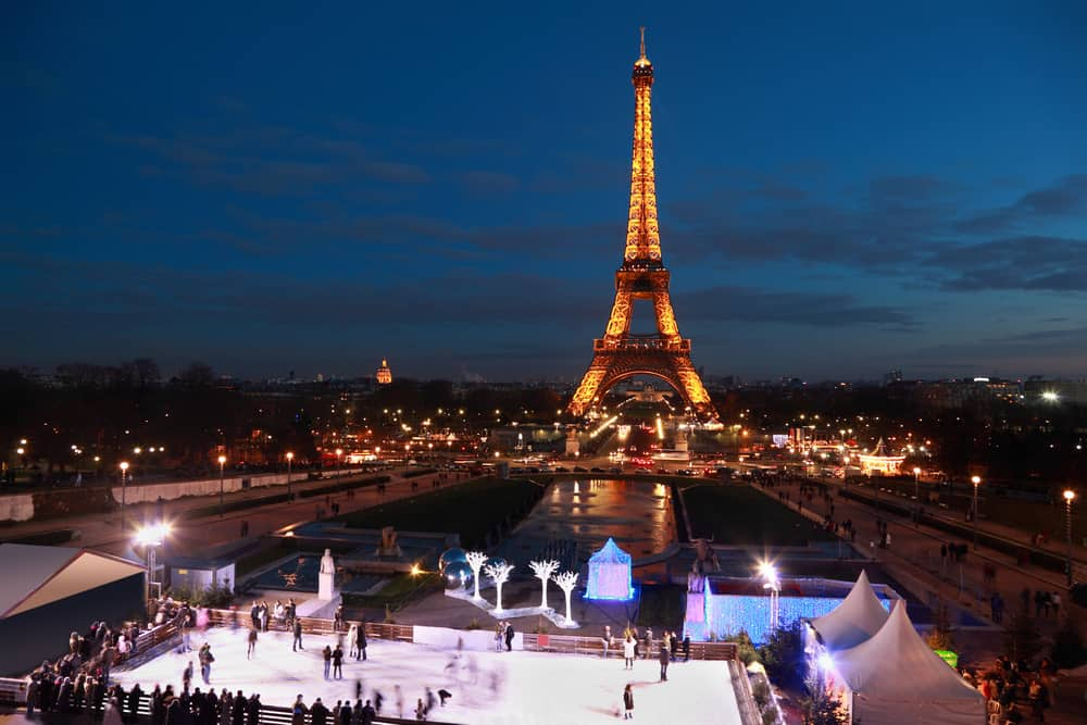 try going ice skating during christmas in paris