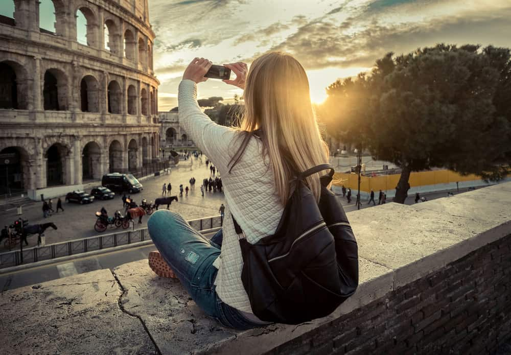Taking photos of iconic monuments in Rome is a must, so don't forget a portable charger on your Europe Packing List!