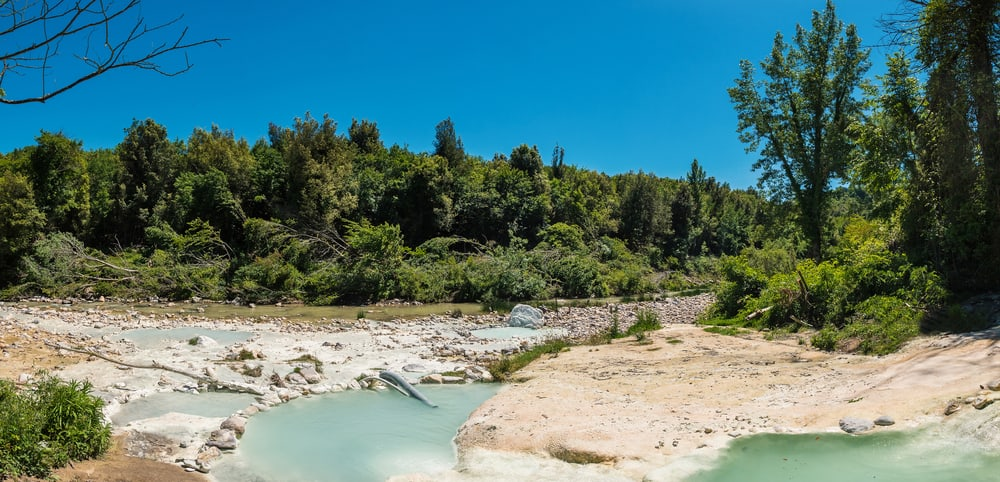 The nature surrounding Bagni di Petriolo hot springs is just as lush as the thermal springs themselves!