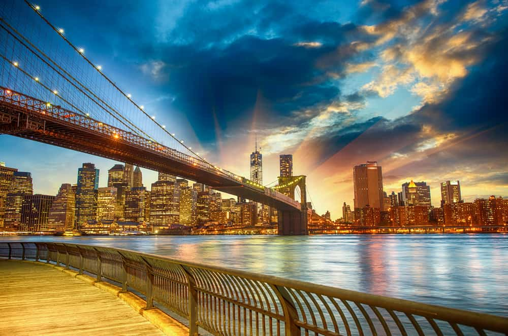 A view of the Brooklyn Bridge and Manhattan skyline. See New York in a day!