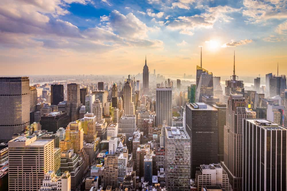 A beautiful view of the NYC skyline, something to see when visiting New York in a day.