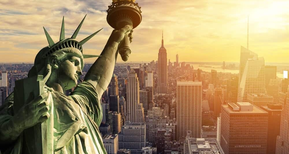 Amazing shot of the Statue of Liberty in the sun, a place not to miss on your trip to see New York in a day!