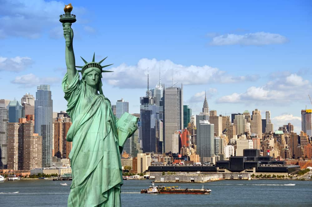 The Statue of Liberty and the Hudson River are great spots to visit when trying to see New York in a day.