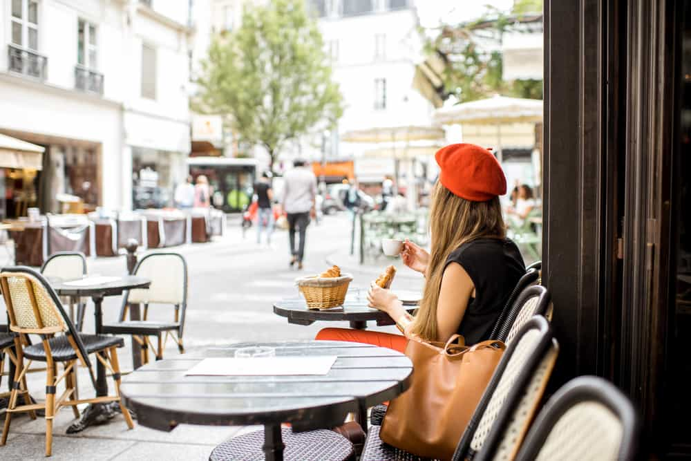 Paris has the best cafes like this one pictured-- make sure to stop and explore the food scene in France. It's so yummy!