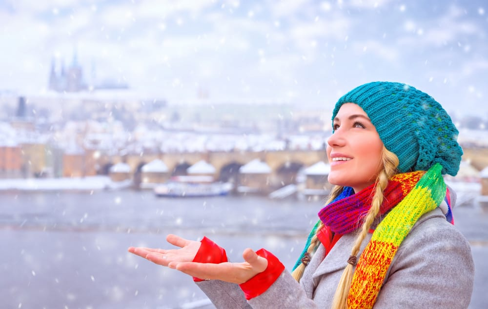 Visiting Prague in winter requires warm and comfy clothing!