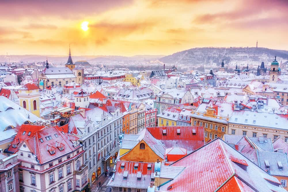 The weather during Prague in winter can be very cold