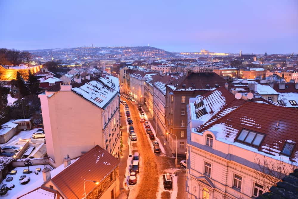 There are several ways to get to Prague in winter