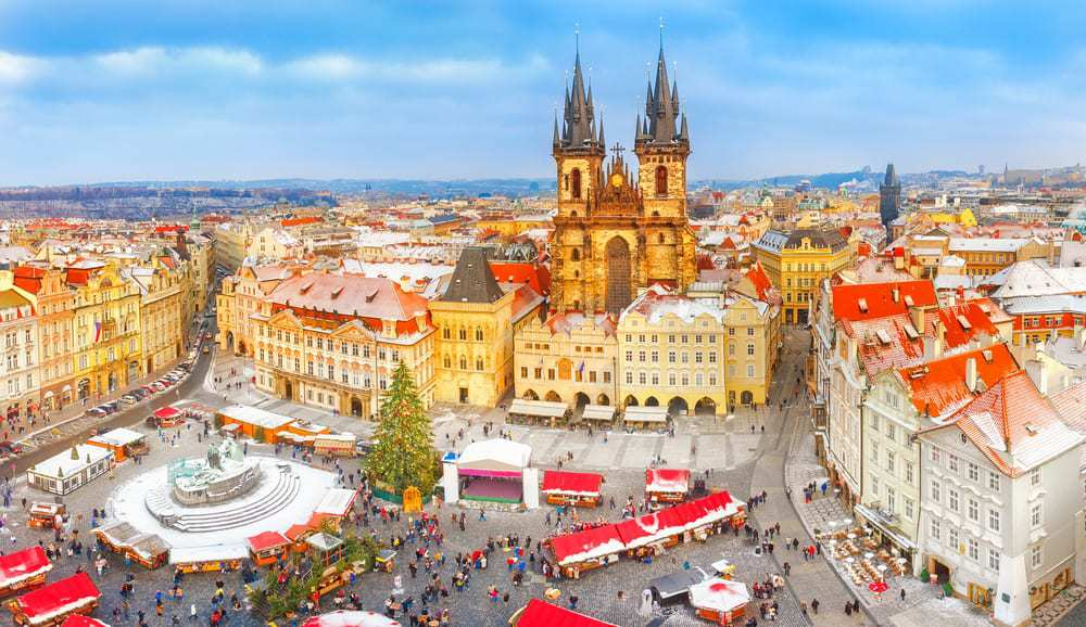 The Christmas Market during Prague in Winter