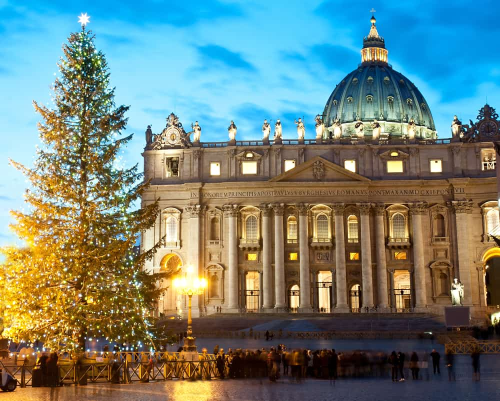 Rome at Christmas is filled with lights and decorations