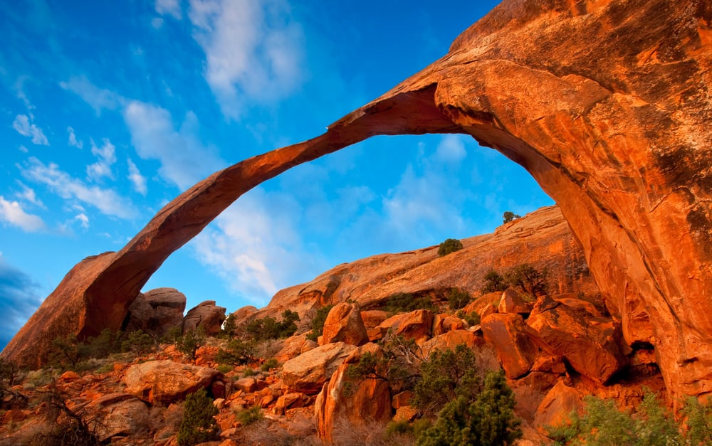 landscape arch the longest arch in the world