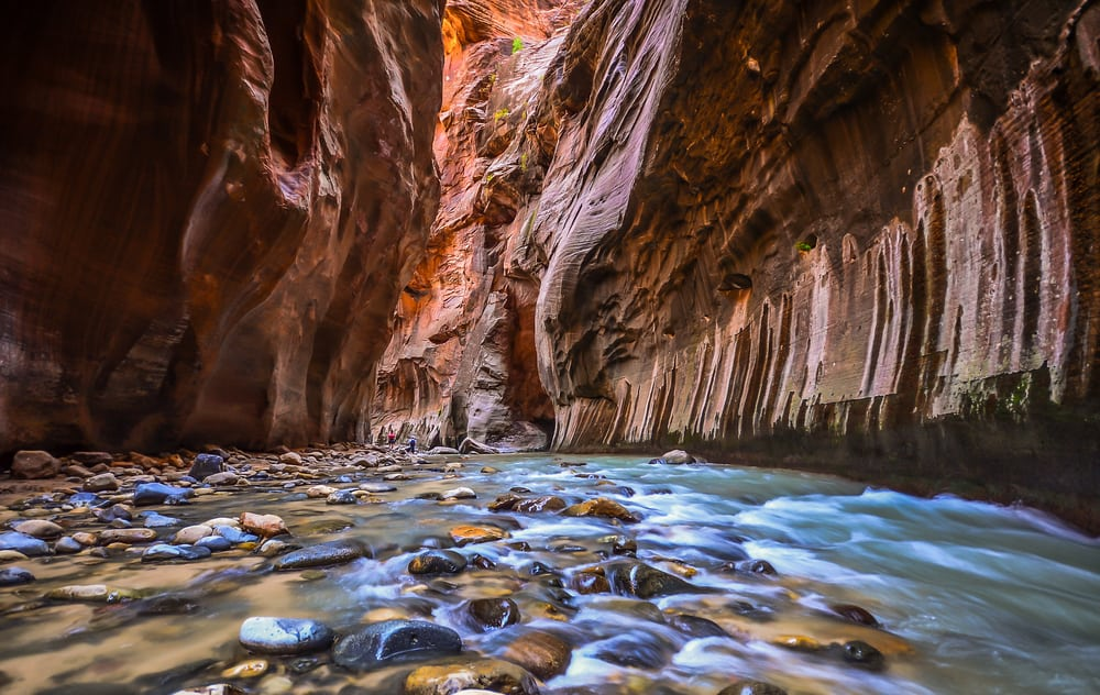 The Narrows In Zion National Park In Utah