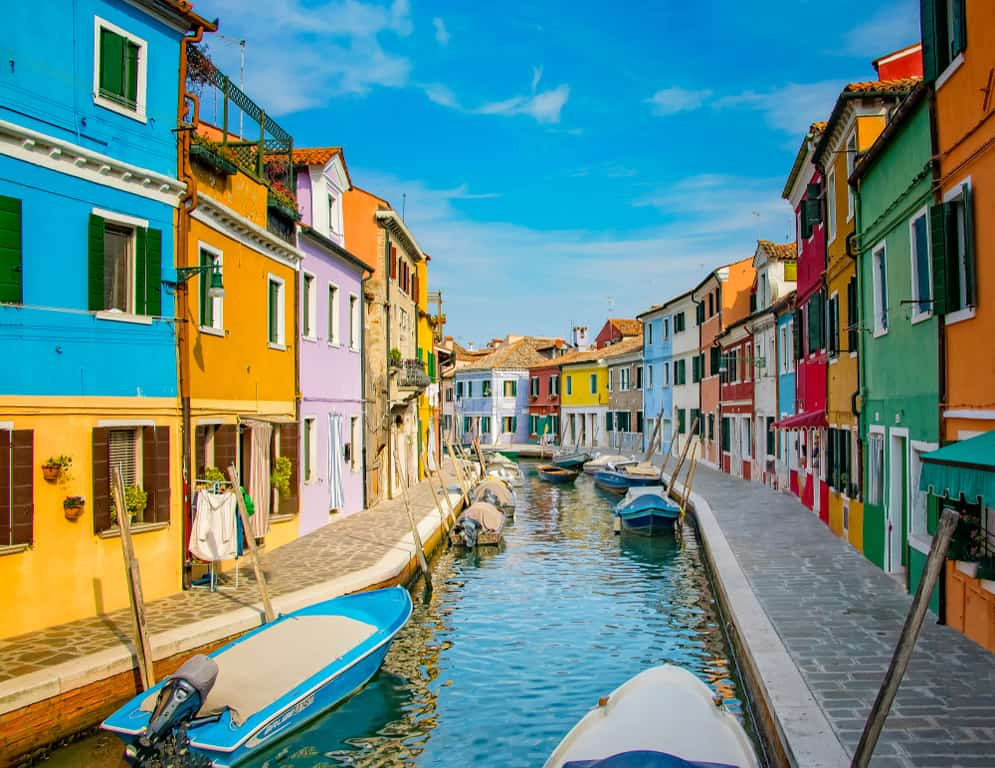 For a sunny splash of color in your grey winter in Venice days visit Burano Island