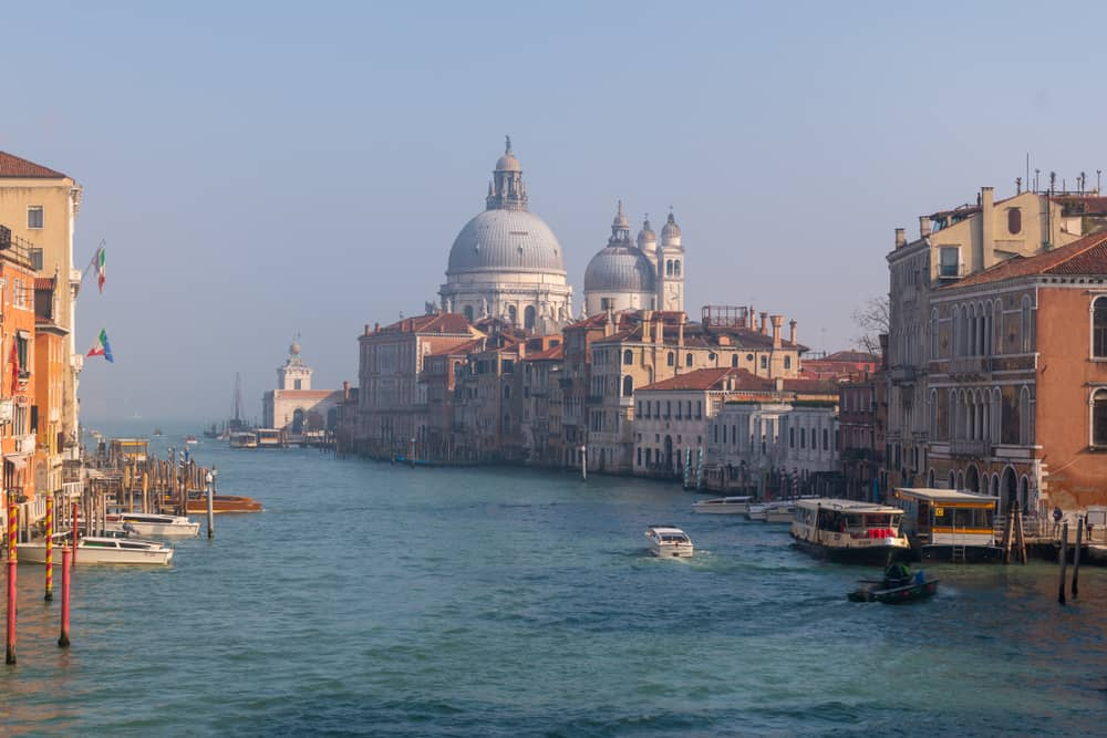 The Grand Canal in Venice in Winter