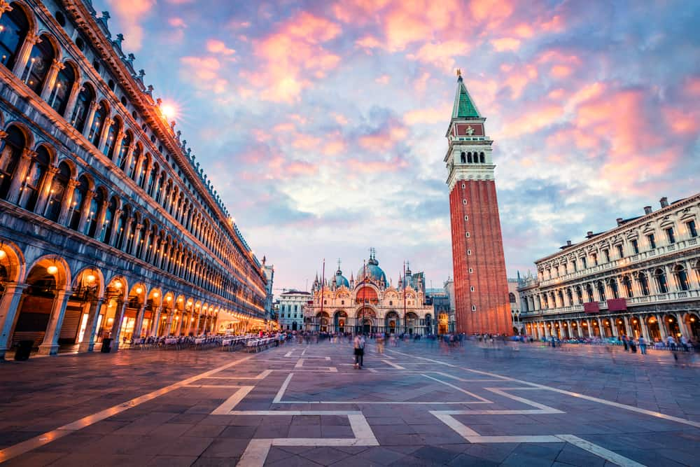 Venice in Winter is a magical time and Saint Marks Square will be far less crowded