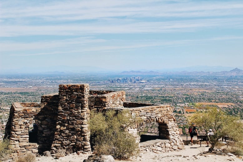 Holbert Trail view from Dobbins Lookout on one of the best hikes in Phoenix