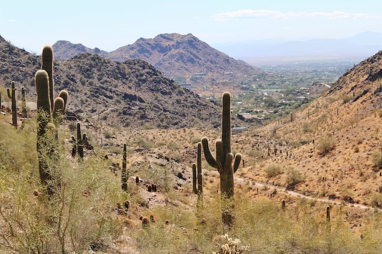 views from the Quartz Ridge Trail on one of the best hikes in Phoenix