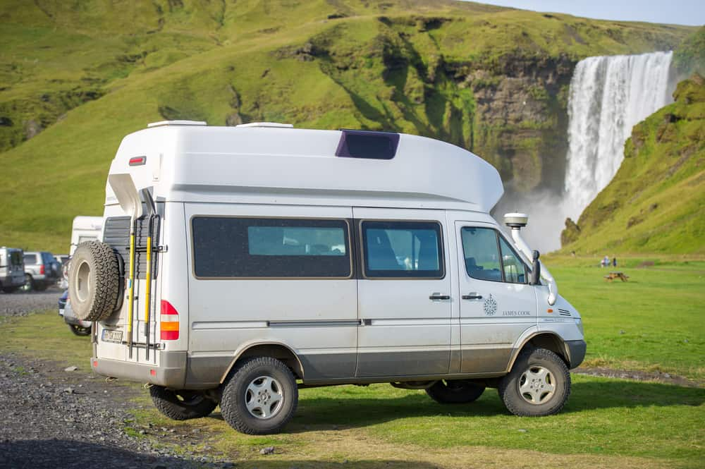 prices in Iceland for renting a campervan