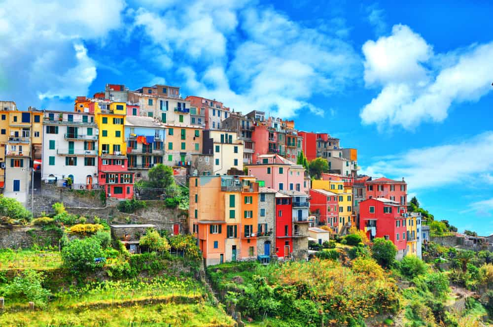 Corniglia Cinque Terre on a sunny day is one of the best places to stay in Cinque Terre