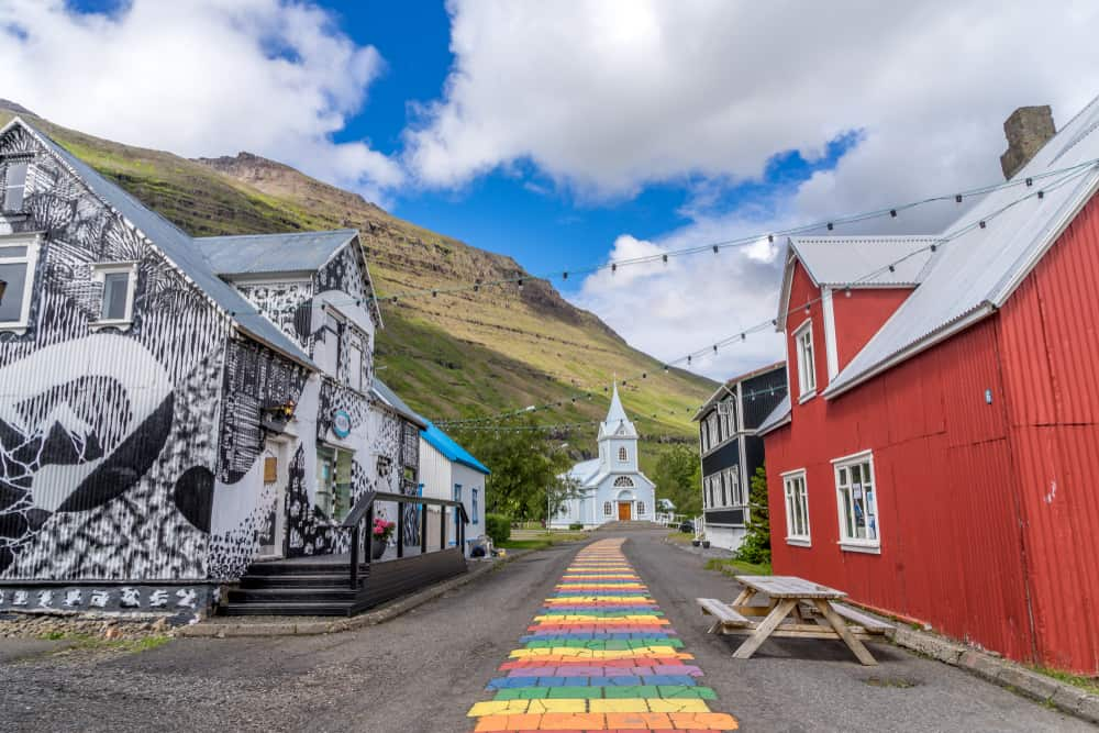 the East Coast is where to stay in Iceland to see Seydisfjordur