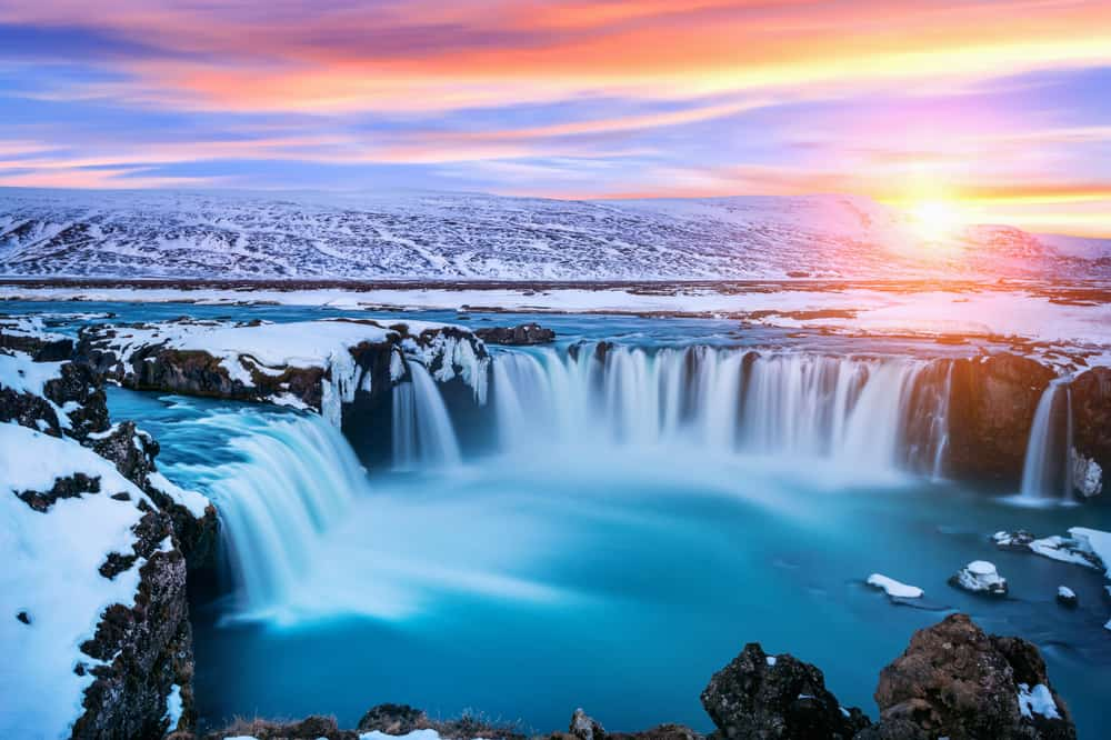 the north is where to stay in Iceland to see Godafoss