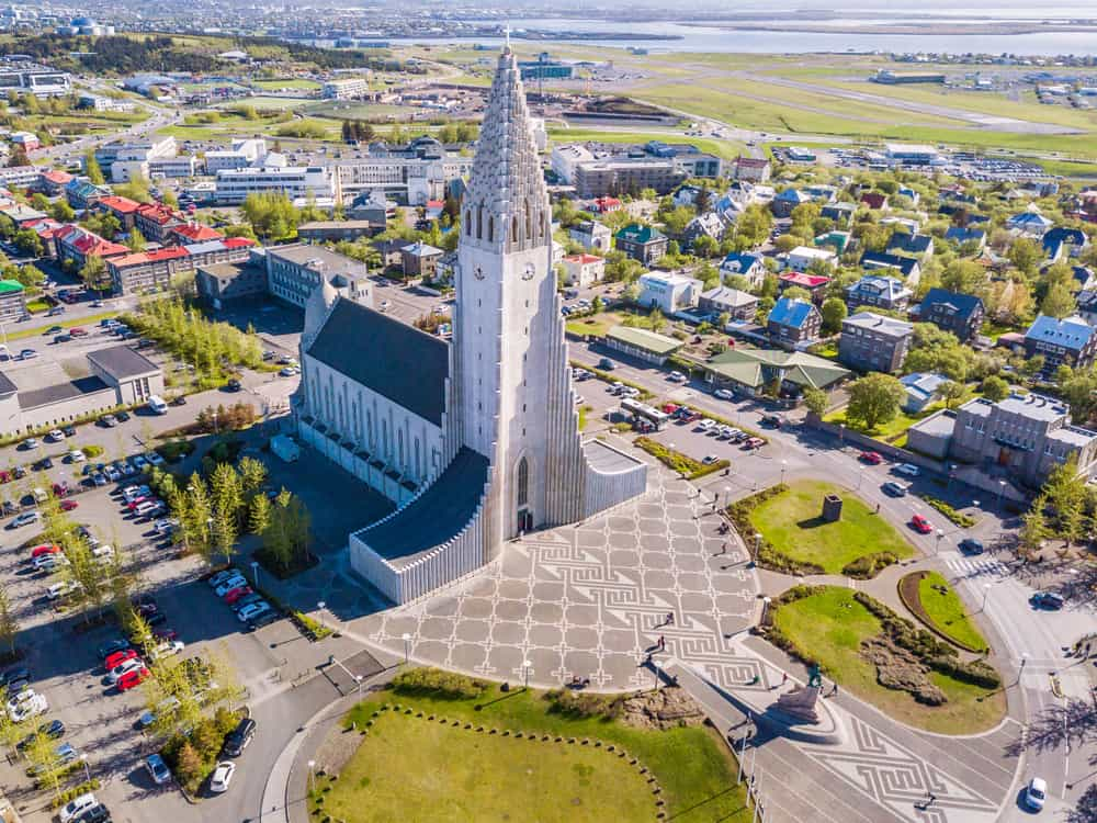Reykjavik is where to stay in Iceland to see Hallgrimskirkja
