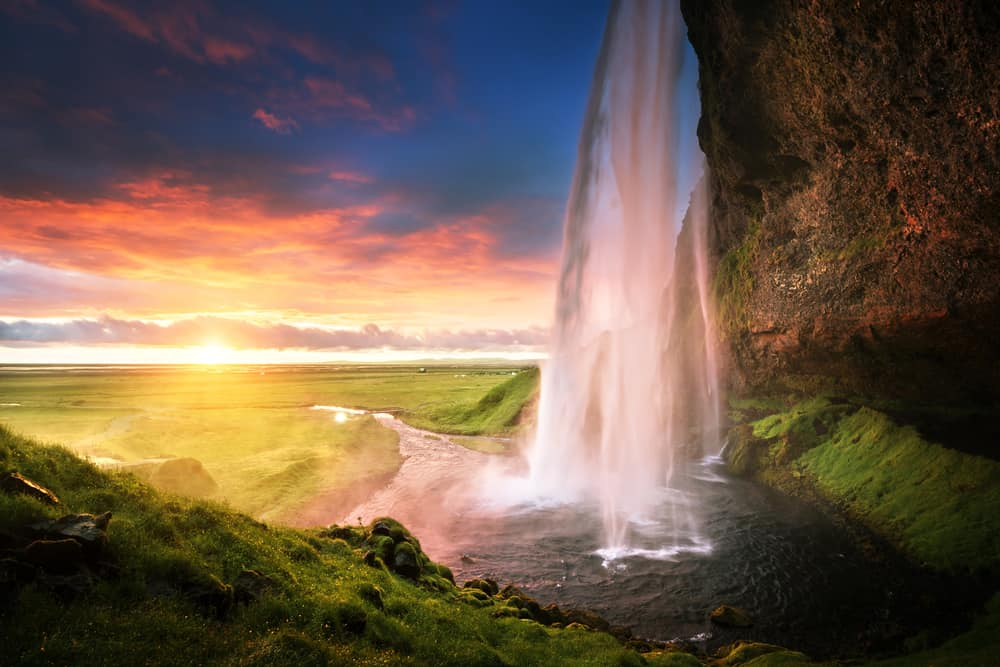 the South Coast is where to stay in Iceland to see Seljalandsfoss