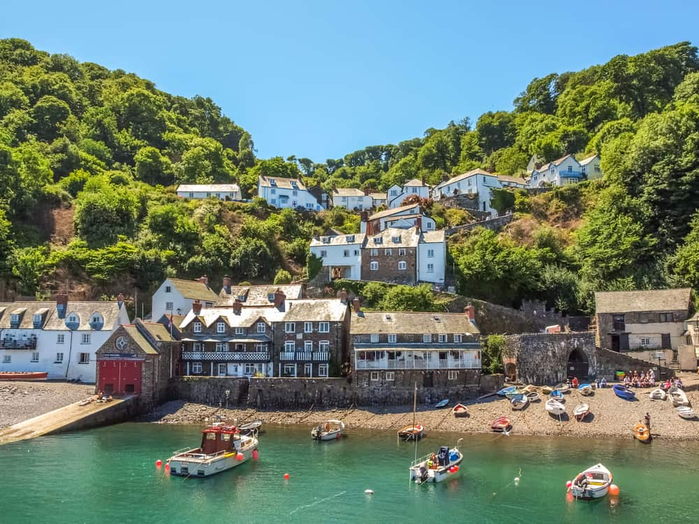 A phot of one of the older fishing English villages, Clovelly.