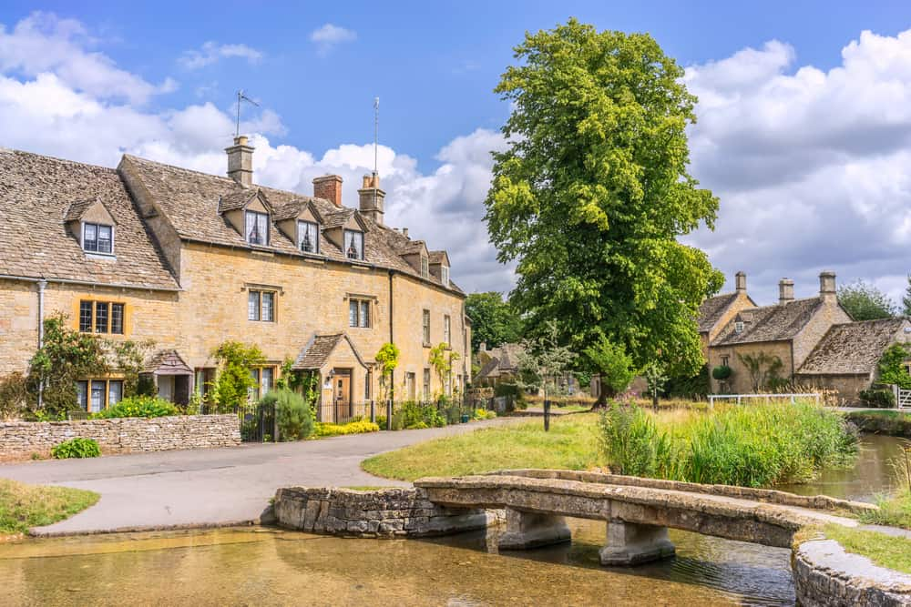 Photo of one of the most surreal English villages, Lower Slaughter.