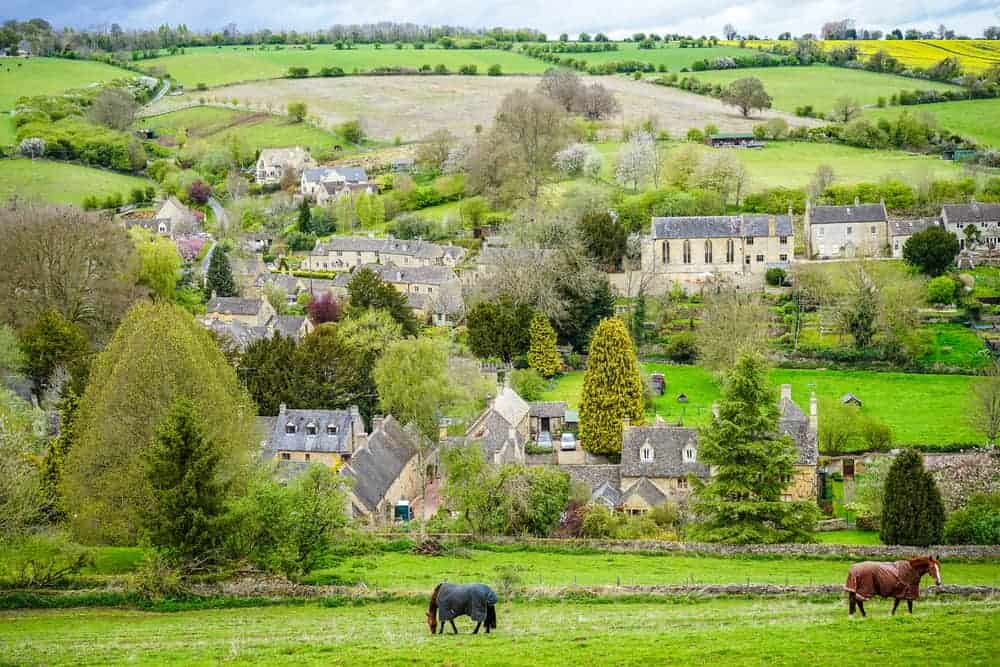 Photo of one of the country English villages, Naunton.