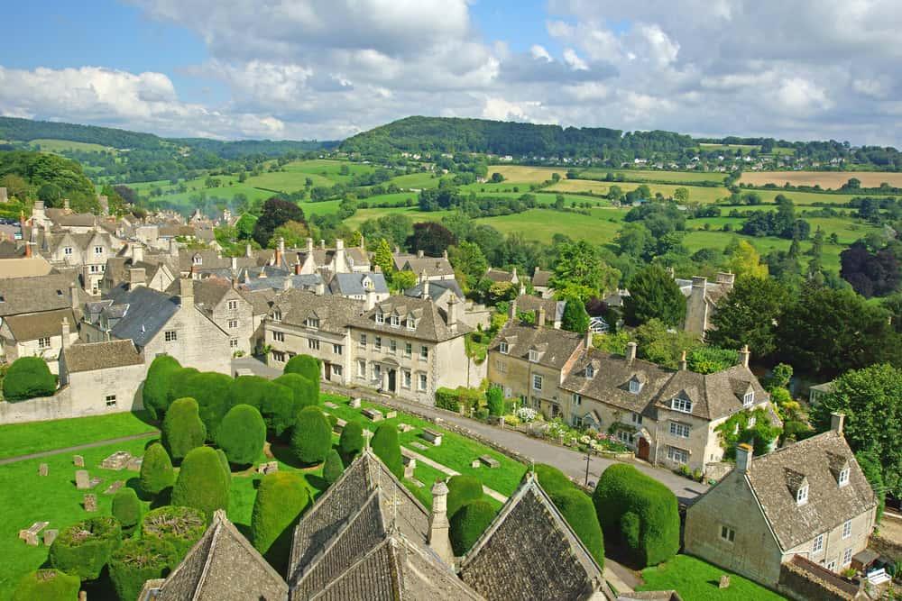 Photo of pretty English village of Painswick