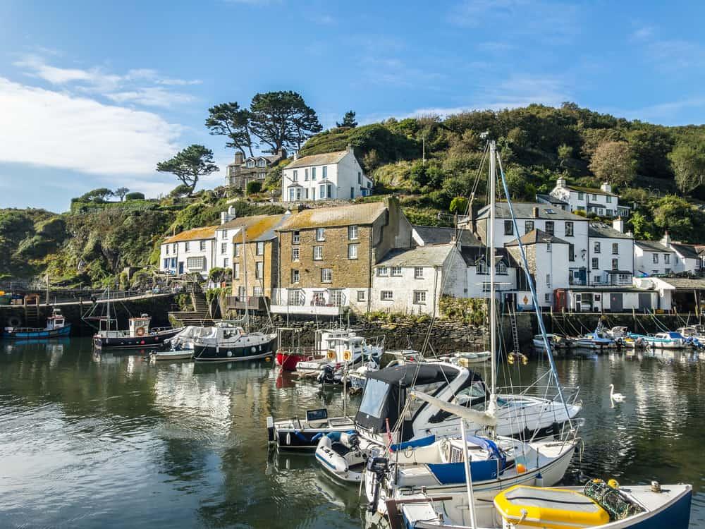 Photo of Polperro, an English fishing village.