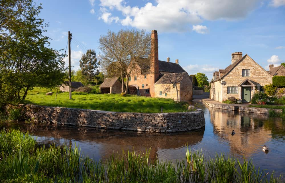 Photo of Lower Slaughter, one of the most idyllic English villages.
